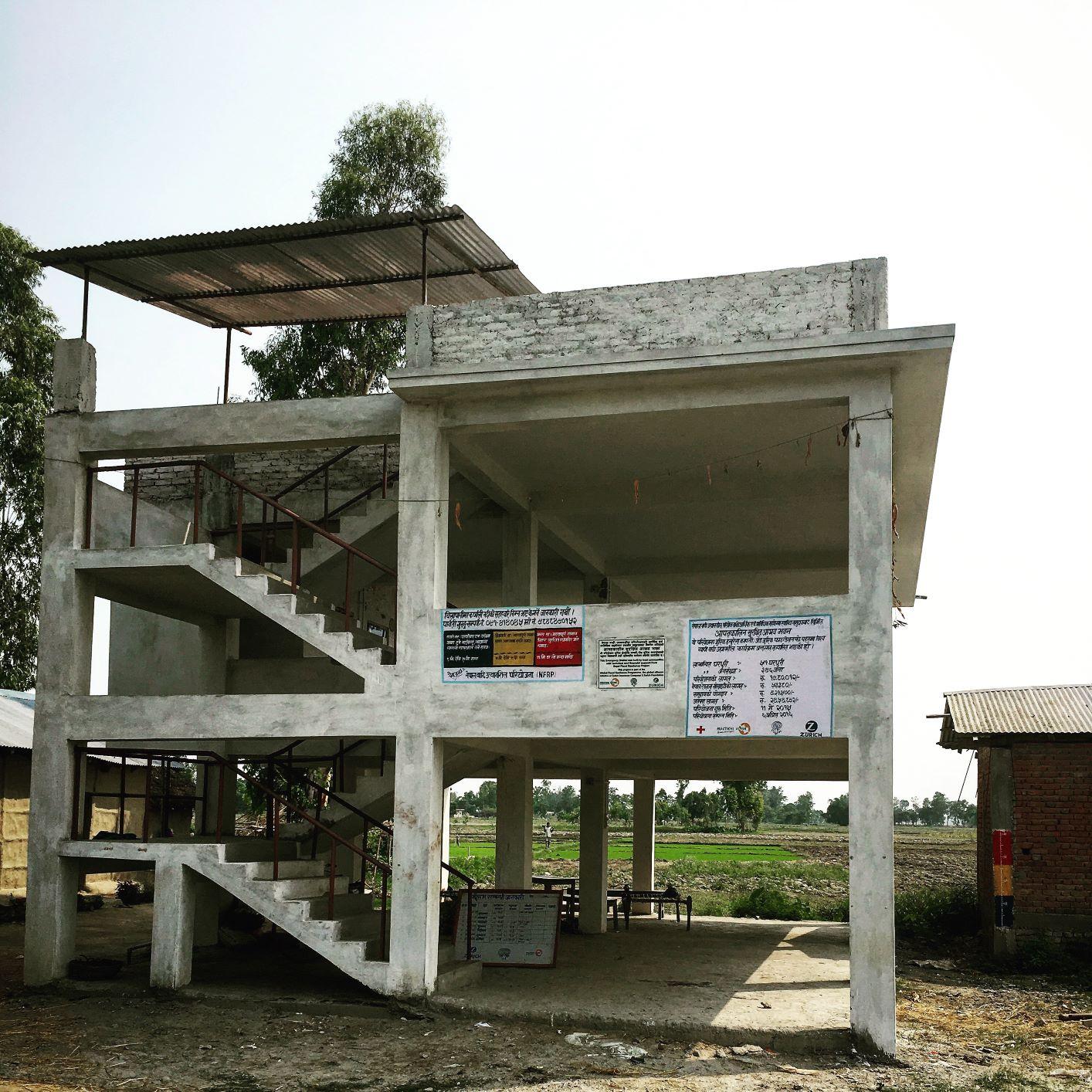 Refugio de evacuación en Nepal. Por Archana Gurung, Practical Action